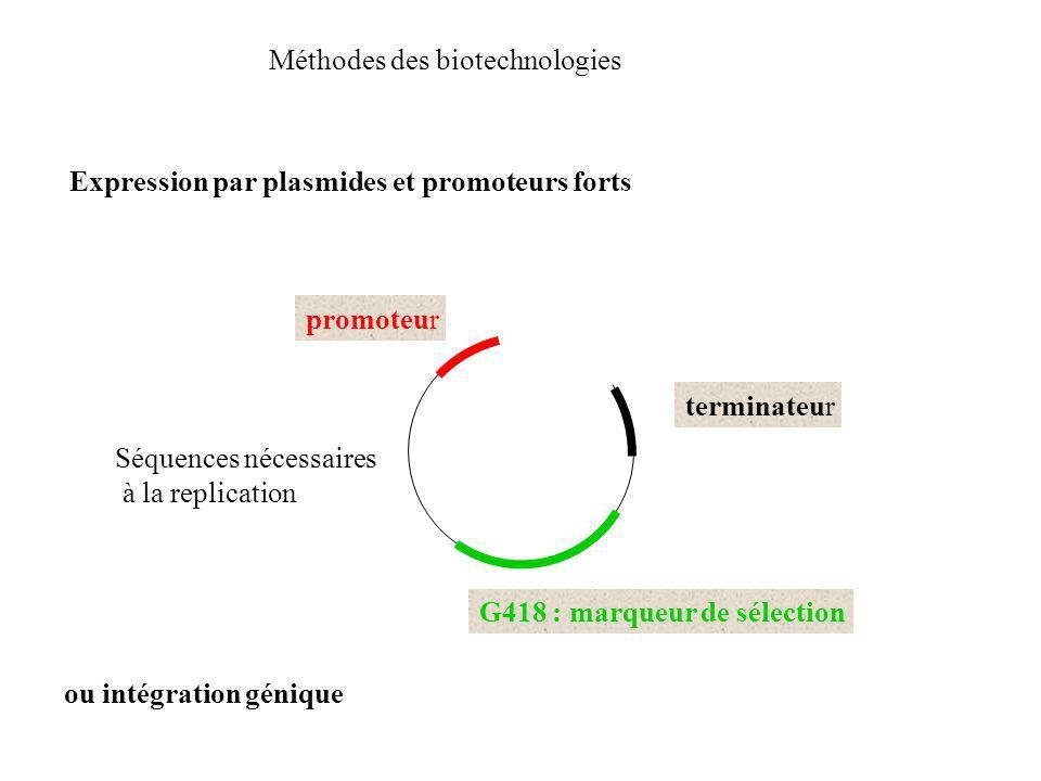 Méthodes des biotechnologies