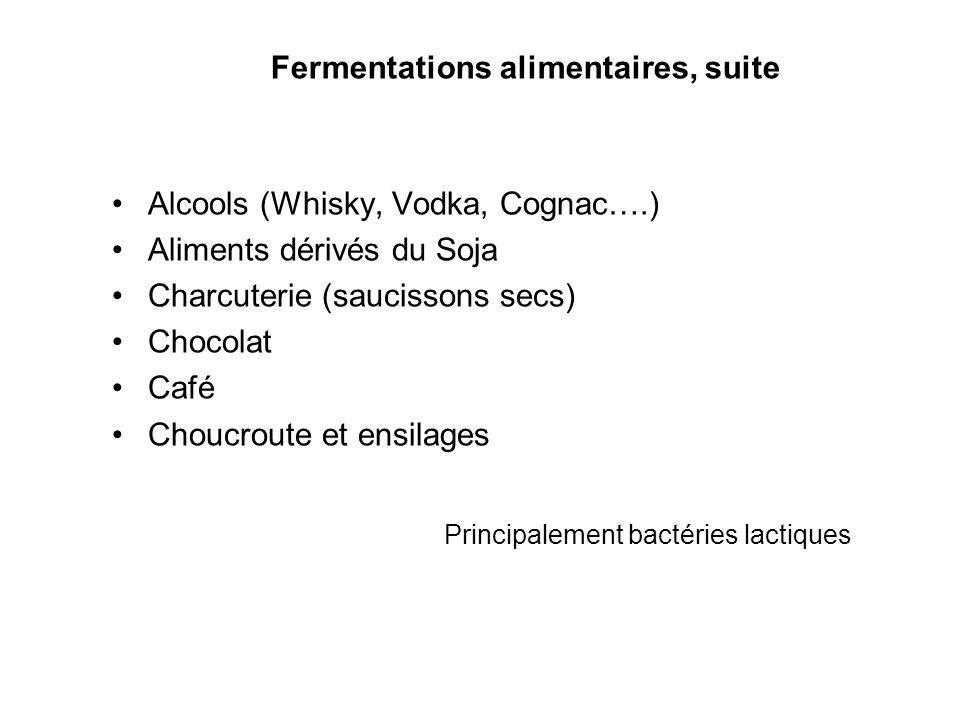 Fermentations alimentaires, suite