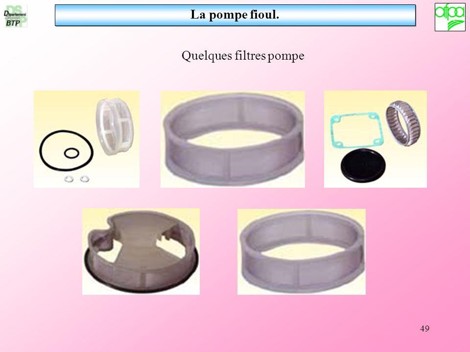 Quelques filtres pompe