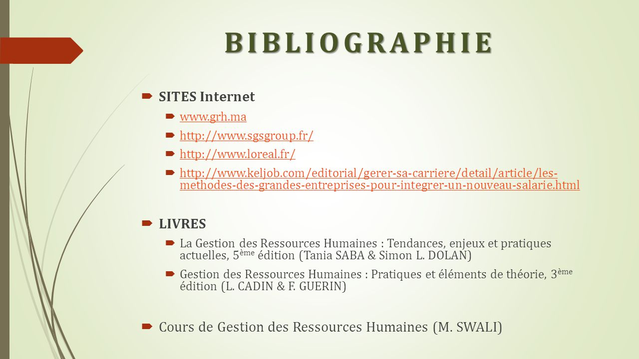 BIBLIOGRAPHIE SITES Internet LIVRES