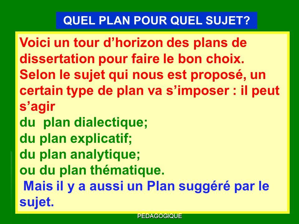 plan dissertation dilalectique