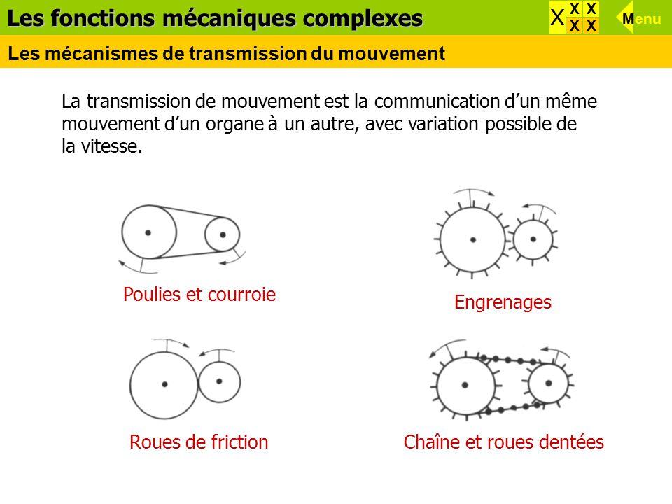 Les fonctions mécaniques complexes X X