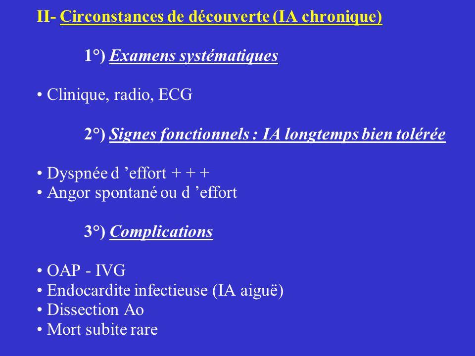 II- Circonstances de découverte (IA chronique)