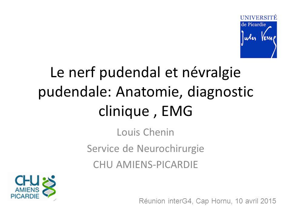 Louis Chenin Service de Neurochirurgie CHU AMIENS-PICARDIE