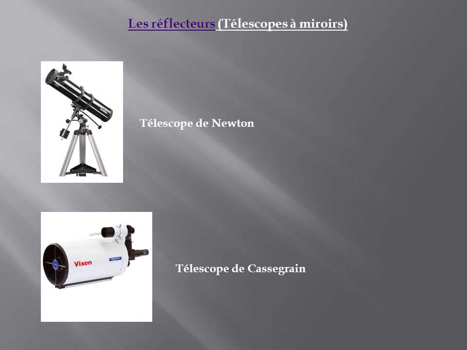 Les t lescope r alis par mr hicham bouzakri ppt for Miroir de telescope