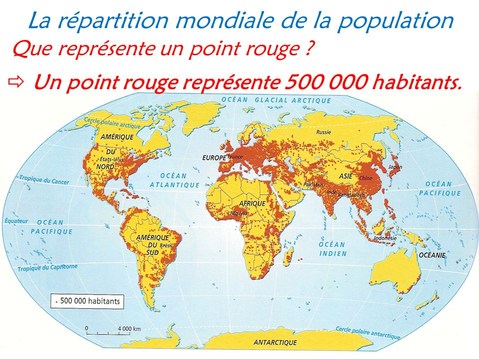 La r partition mondiale de la population ppt video for Que represente 500 mo