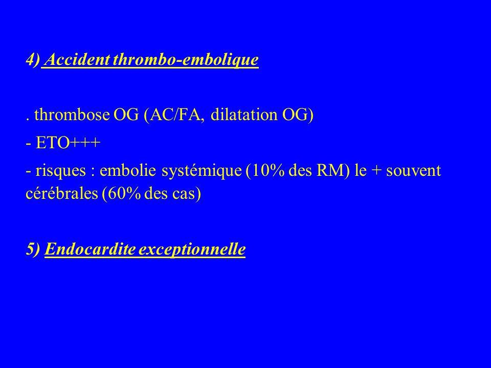 4) Accident thrombo-embolique