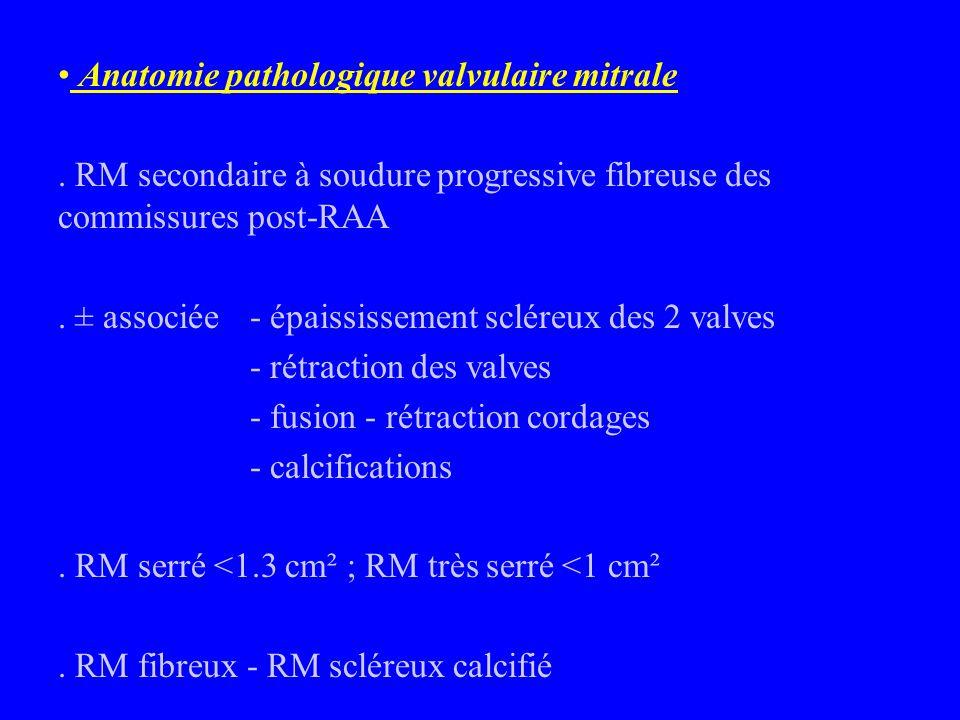 Anatomie pathologique valvulaire mitrale