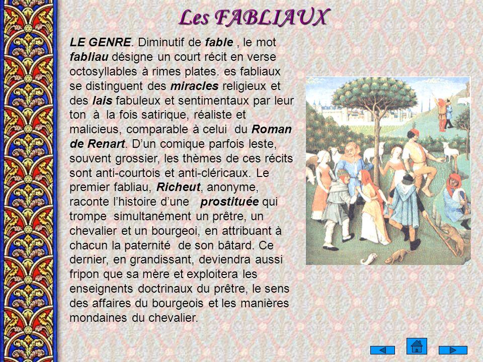 Les FABLIAUX