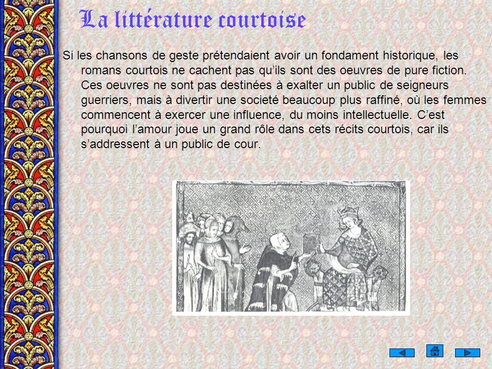 La littérature courtoise