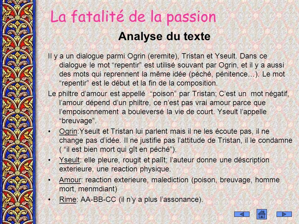 La fatalité de la passion