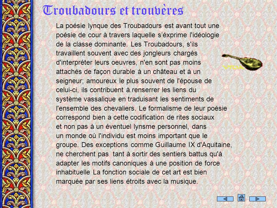 Troubadours et trouvères