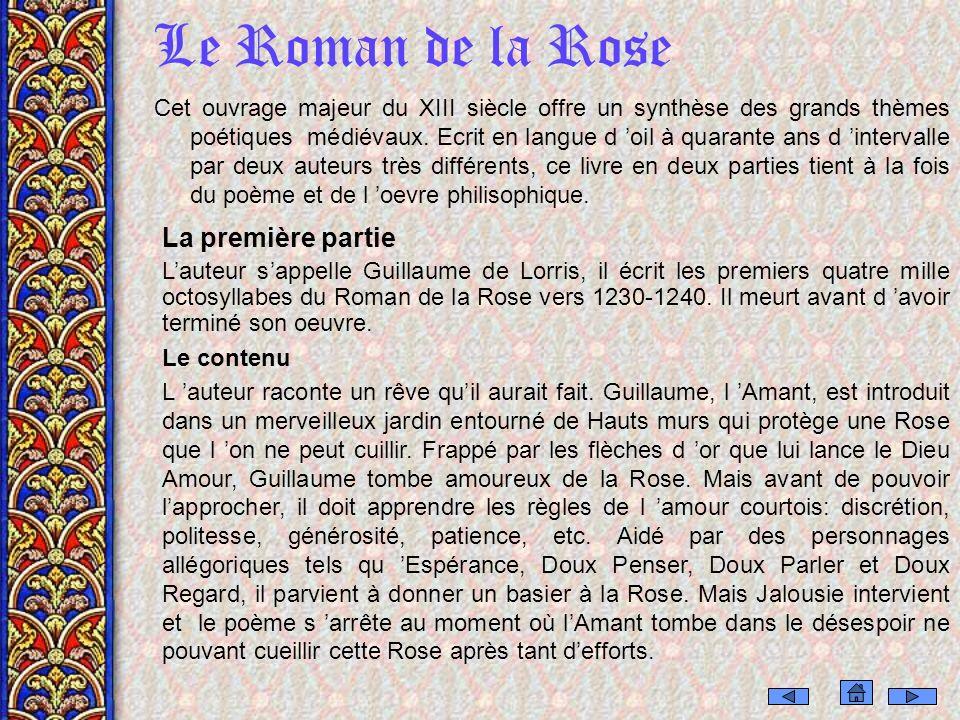 Le Roman de la Rose La première partie
