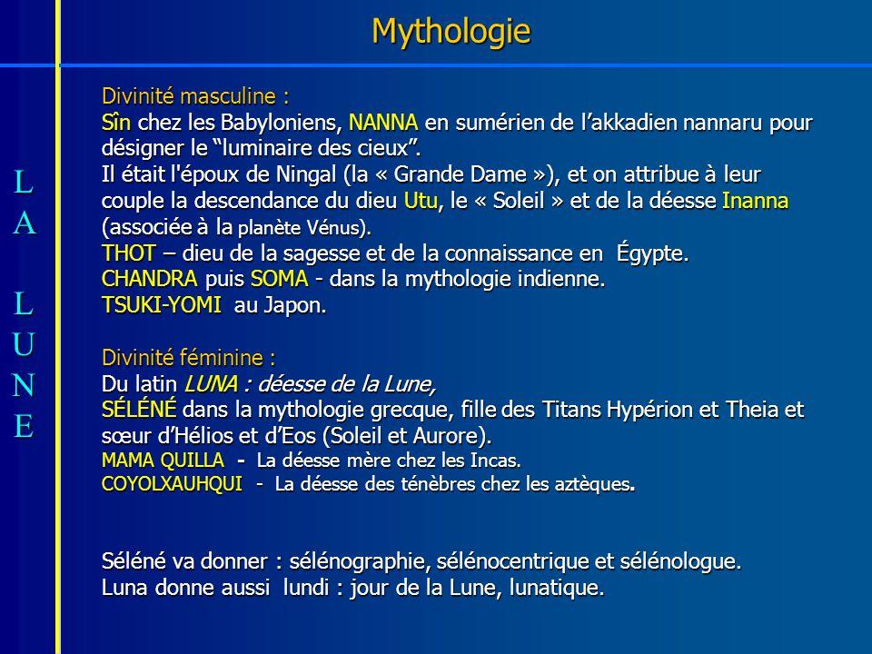 Mythologie Divinité masculine :