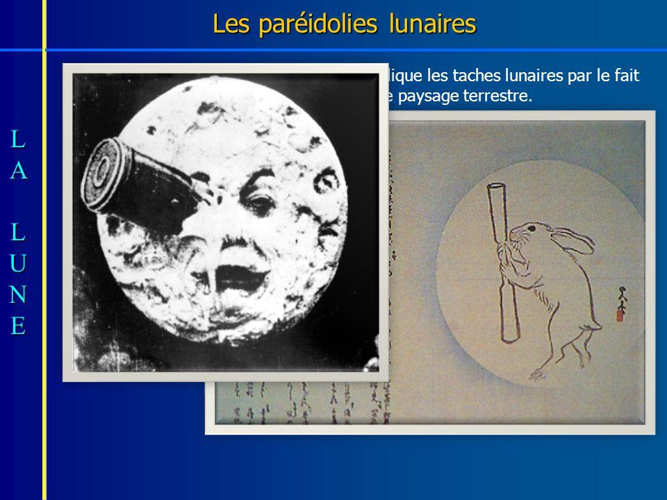 Les paréidolies lunaires