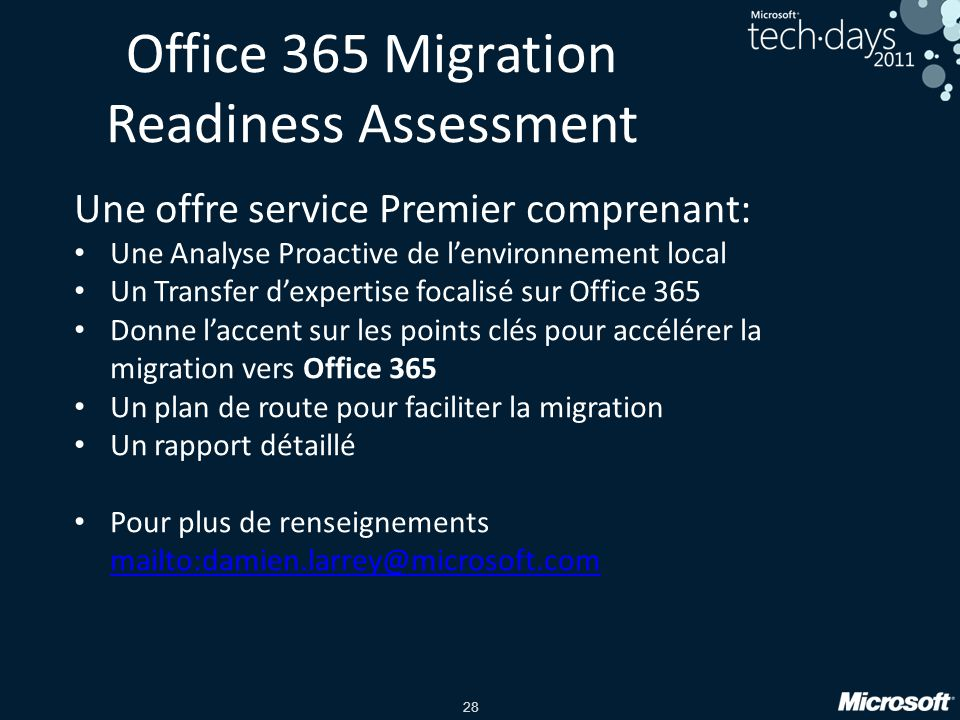 Office 365 impl mentation planification et pr paration ppt t l charger - Office de migration internationale ...