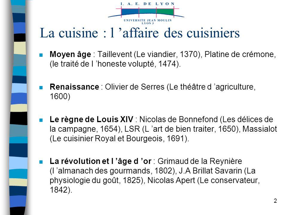 Histoire de l alimentation ppt t l charger for Cuisinier louis 14
