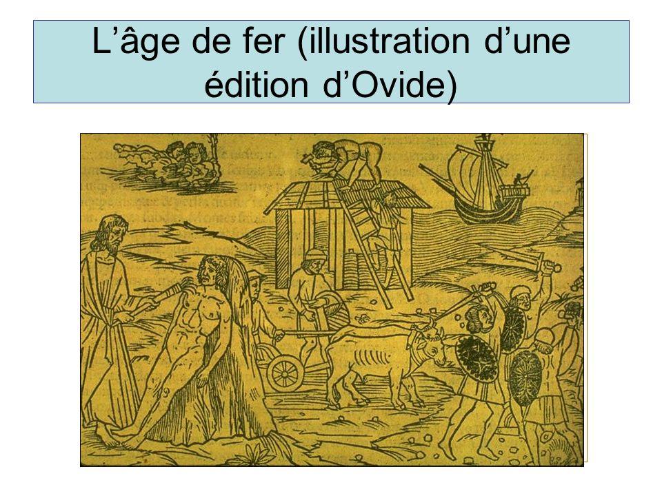 L'âge de fer (illustration d'une édition d'Ovide)