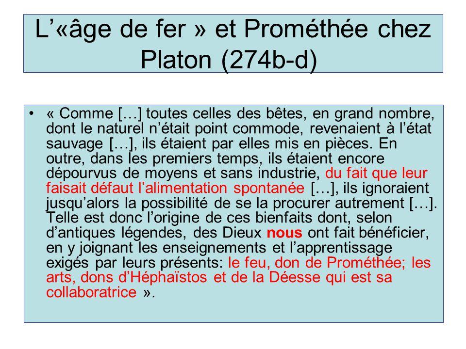 L'«âge de fer » et Prométhée chez Platon (274b-d)