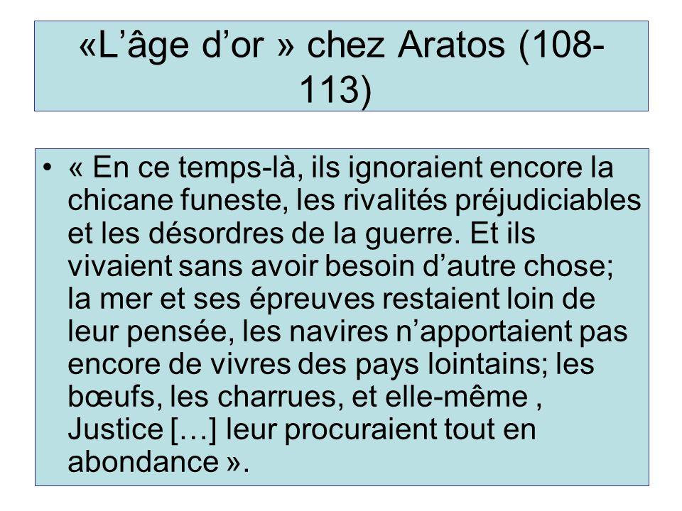 «L'âge d'or » chez Aratos (108-113)