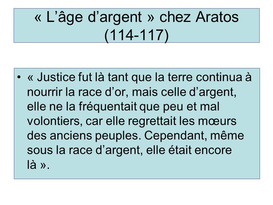 « L'âge d'argent » chez Aratos (114-117)