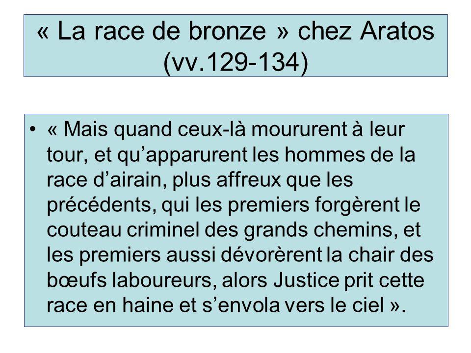 « La race de bronze » chez Aratos (vv.129-134)