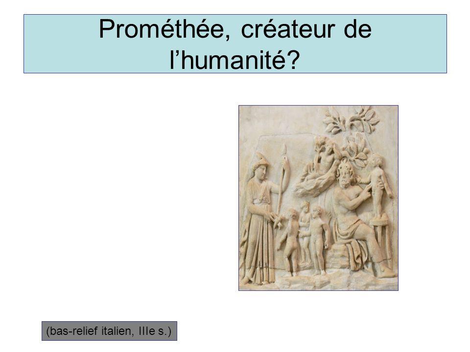 Prométhée, créateur de l'humanité