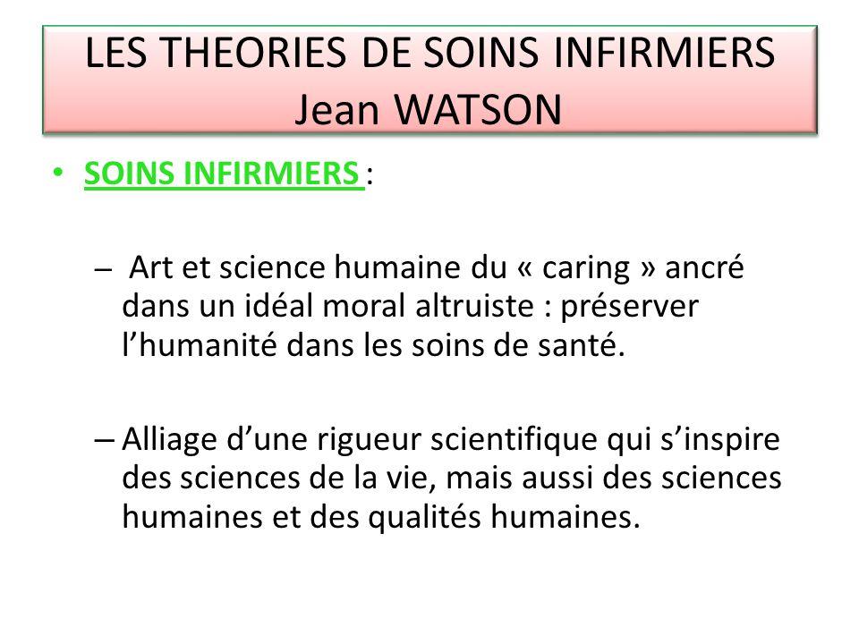 LES THEORIES DE SOINS INFIRMIERS Jean WATSON