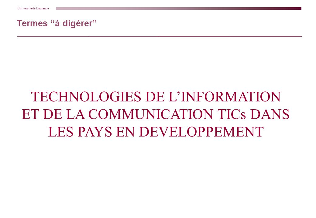 Les Nouvelles Technologies de l'Information et de la ...
