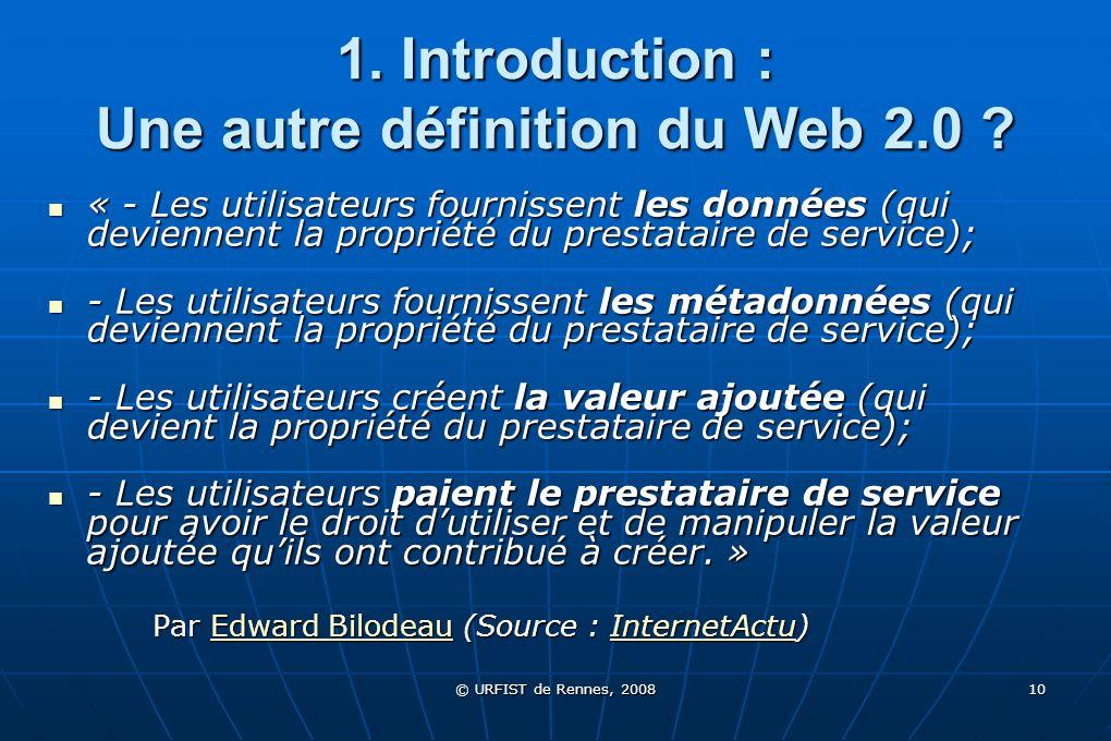 1. Introduction : Une autre définition du Web 2.0