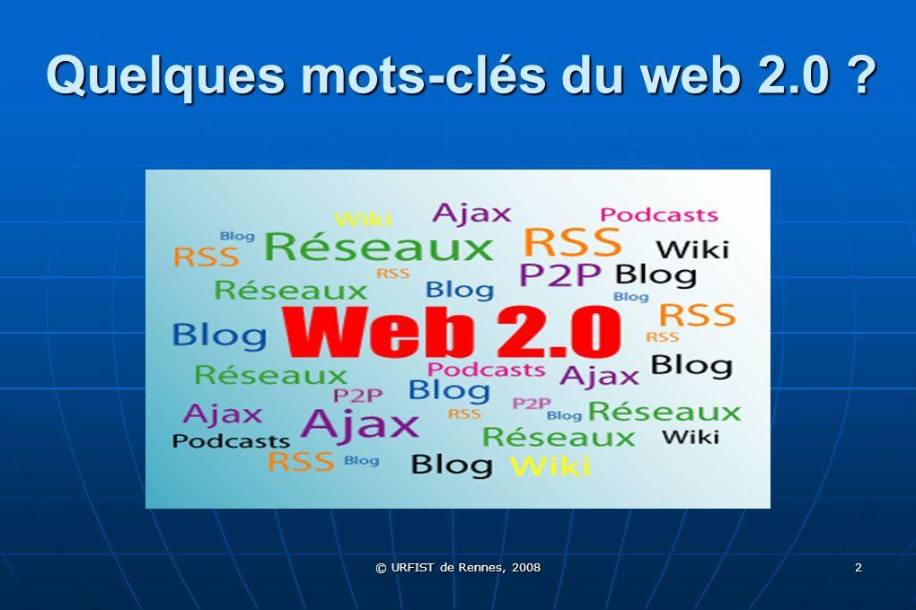 Quelques mots-clés du web 2.0