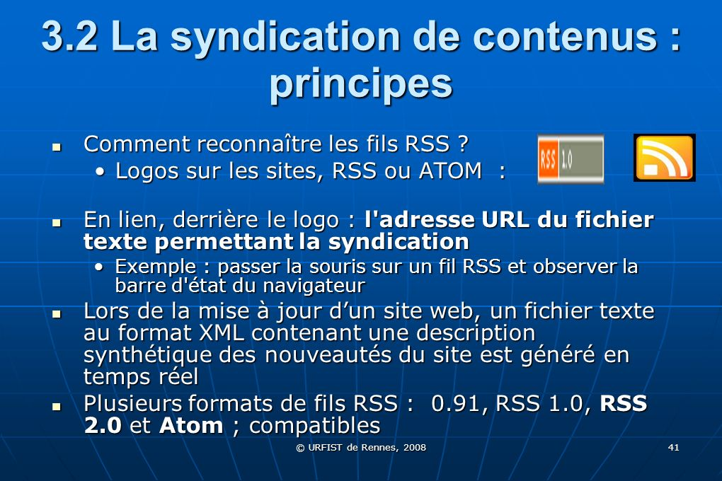 3.2 La syndication de contenus : principes