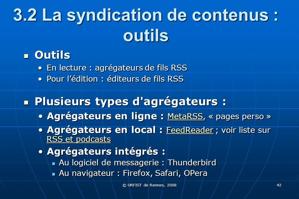 3.2 La syndication de contenus : outils