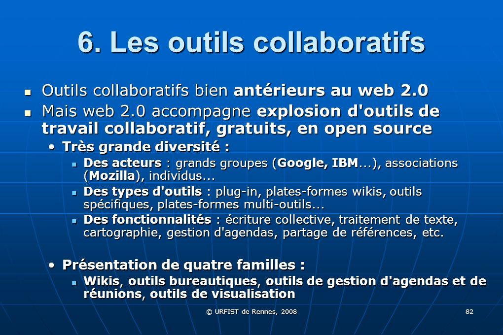 6. Les outils collaboratifs