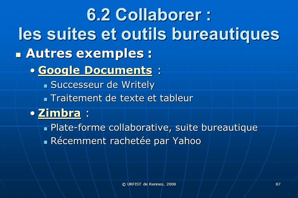 6.2 Collaborer : les suites et outils bureautiques