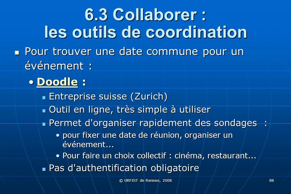 6.3 Collaborer : les outils de coordination