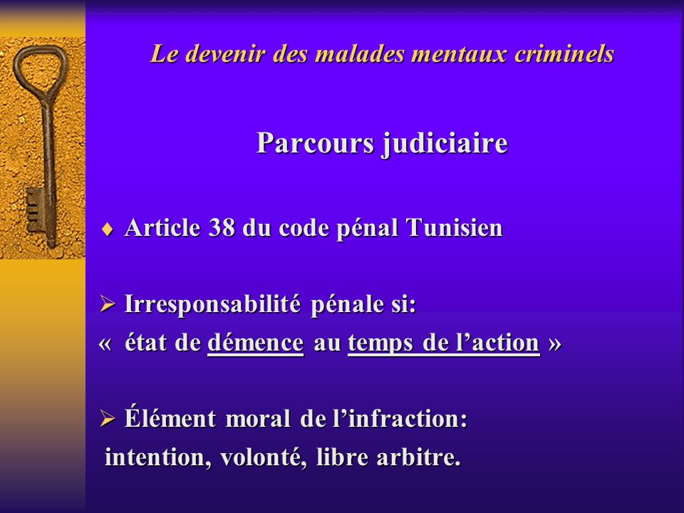 le devenir des malades mentaux criminels en tunisie ppt video online t l charger. Black Bedroom Furniture Sets. Home Design Ideas