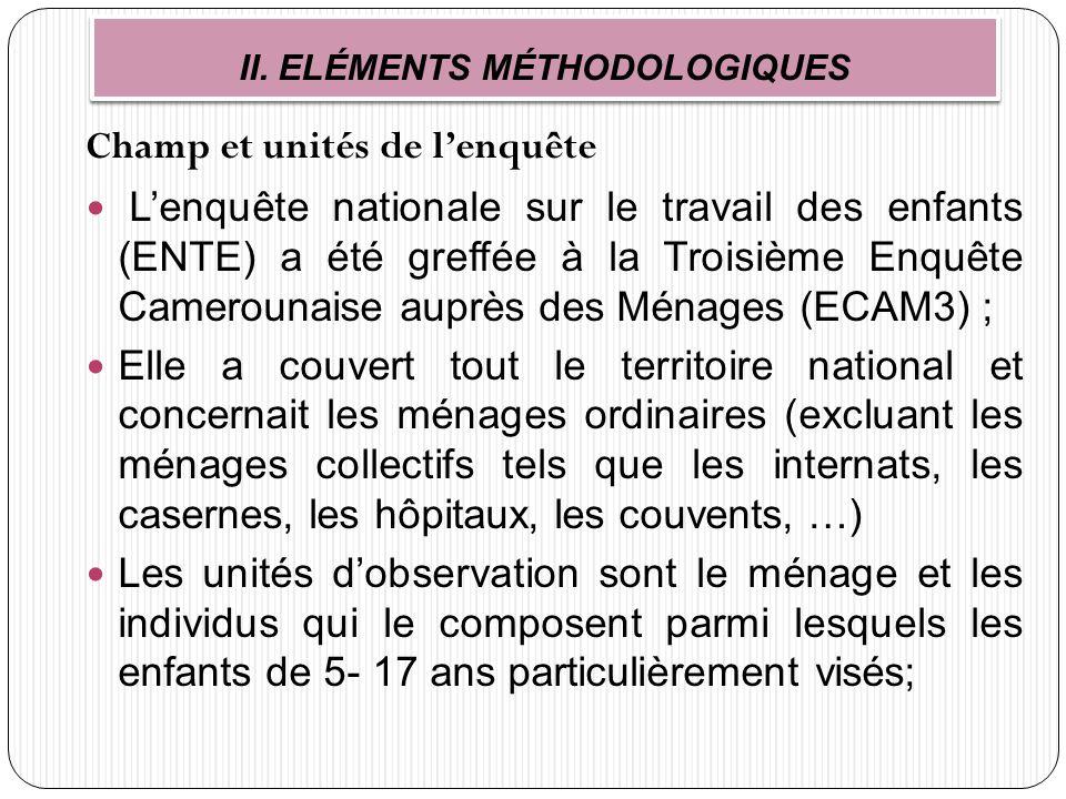 ENQUETE NATIONALE SUR LE TRAVAIL DES ENFANTS AU CAMEROUN ...