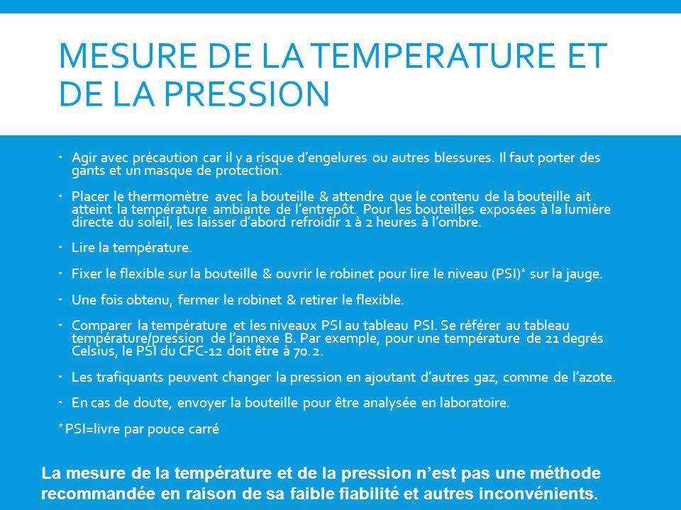 Formation sur les sao pour les douanes et la police ppt - A quelle temperature doit etre un congelateur ...