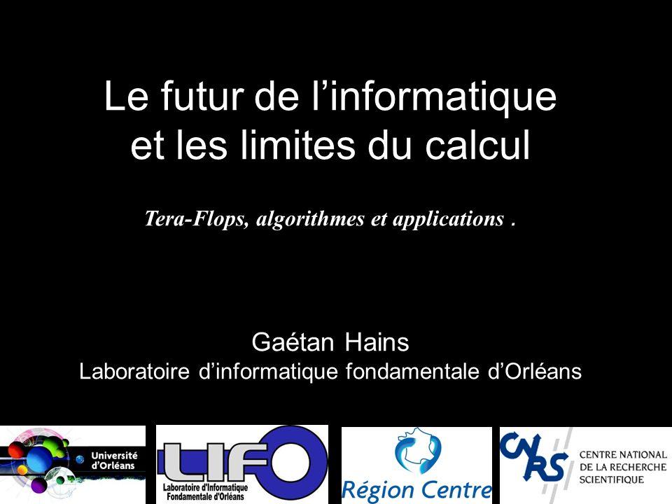 Gaétan Hains Laboratoire d'informatique fondamentale d'Orléans