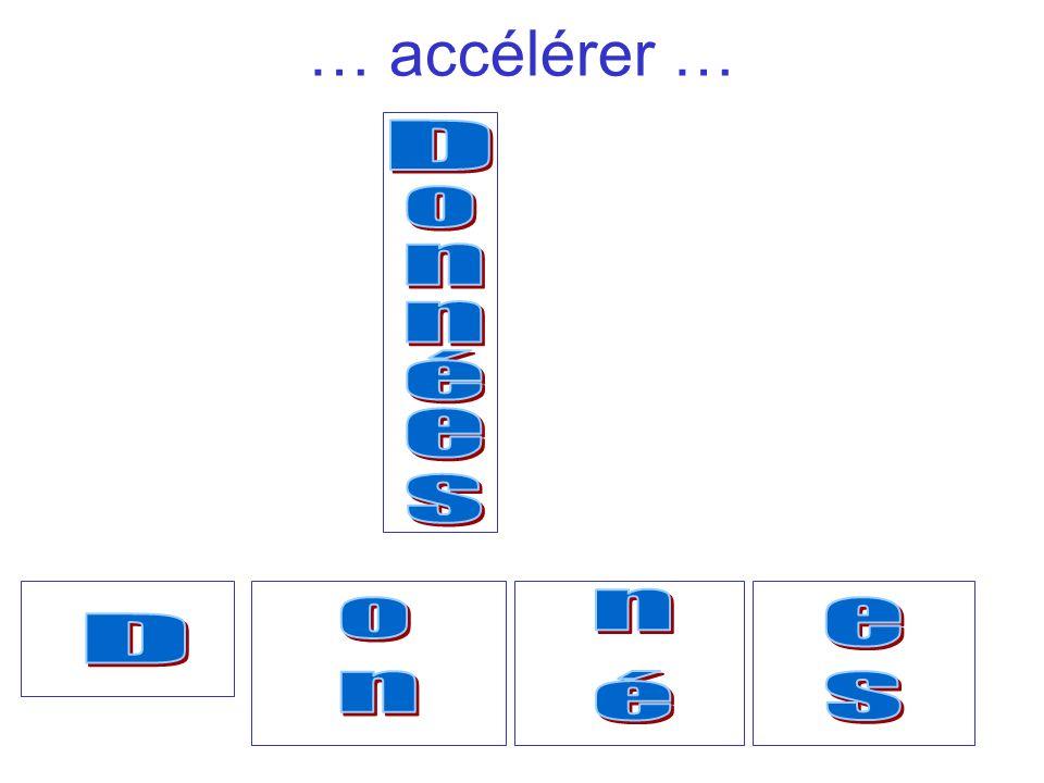 … accélérer … D o n n é e s n o e D n é s