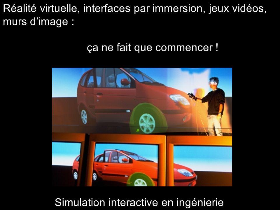 Réalité virtuelle, interfaces par immersion, jeux vidéos, murs d'image : ça ne fait que commencer !