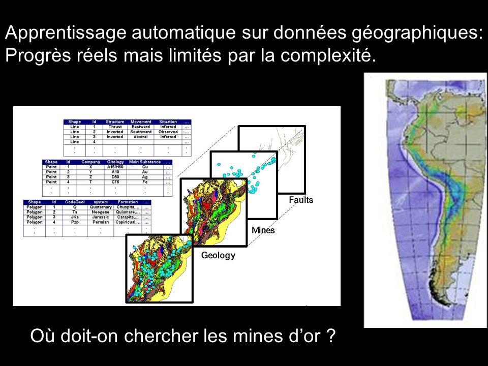 Apprentissage automatique sur données géographiques: