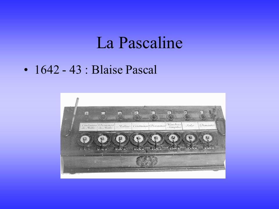 La Pascaline 1642 - 43 : Blaise Pascal