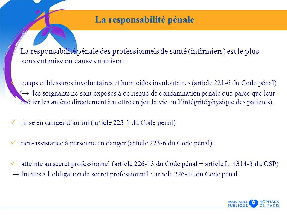 Direction des affaires juridiques et des droits du patient - Coups et blessures volontaires code penal ...