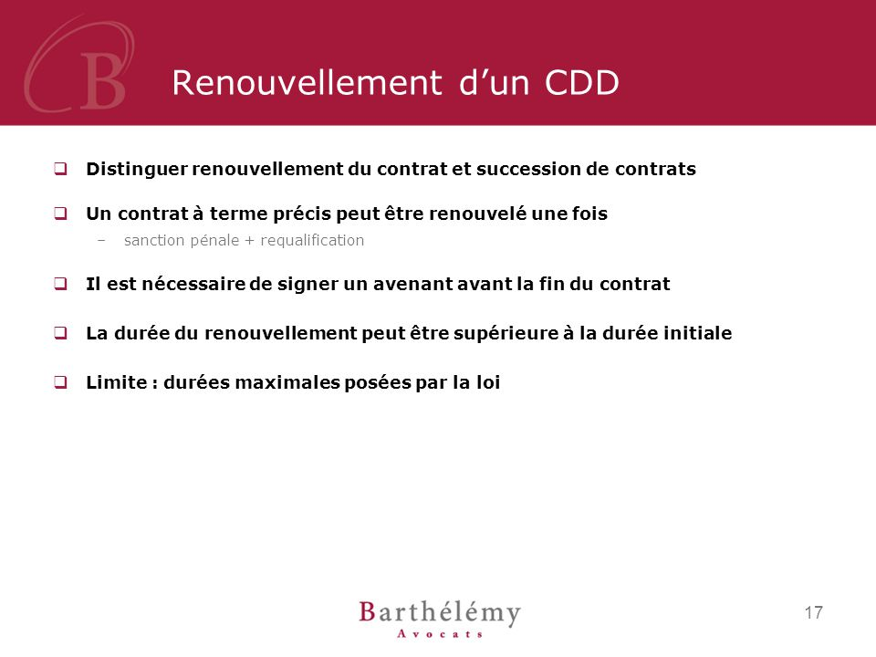obligation de prevenir fin de cdd