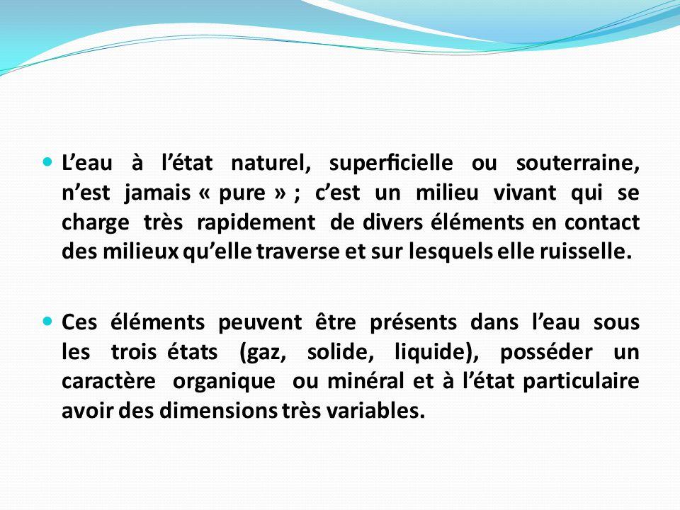 chapitre iii: microbiologie des eaux cours1: eaux naturelles - ppt