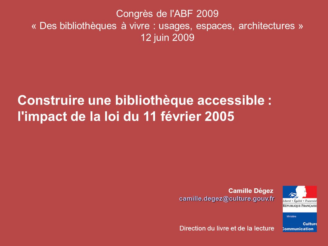 Construire Une Biblioth Que Accessible Ppt T L Charger # Construire Une Bibliotheque