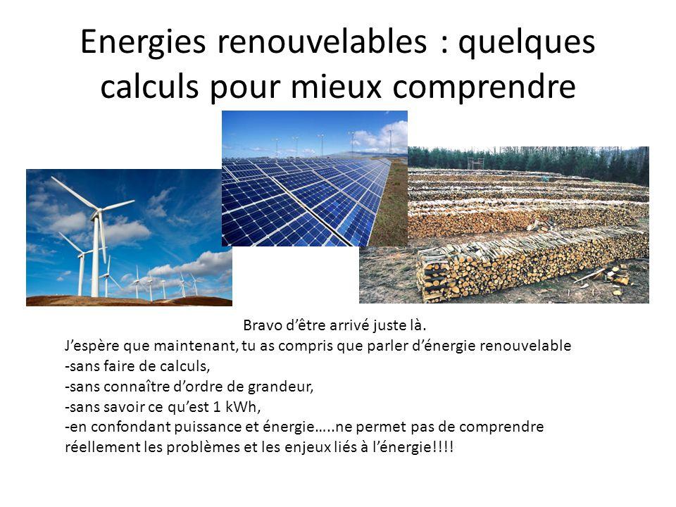 Energies renouvelables quelques calculs pour mieux for Qu est ce qu une energie renouvelable