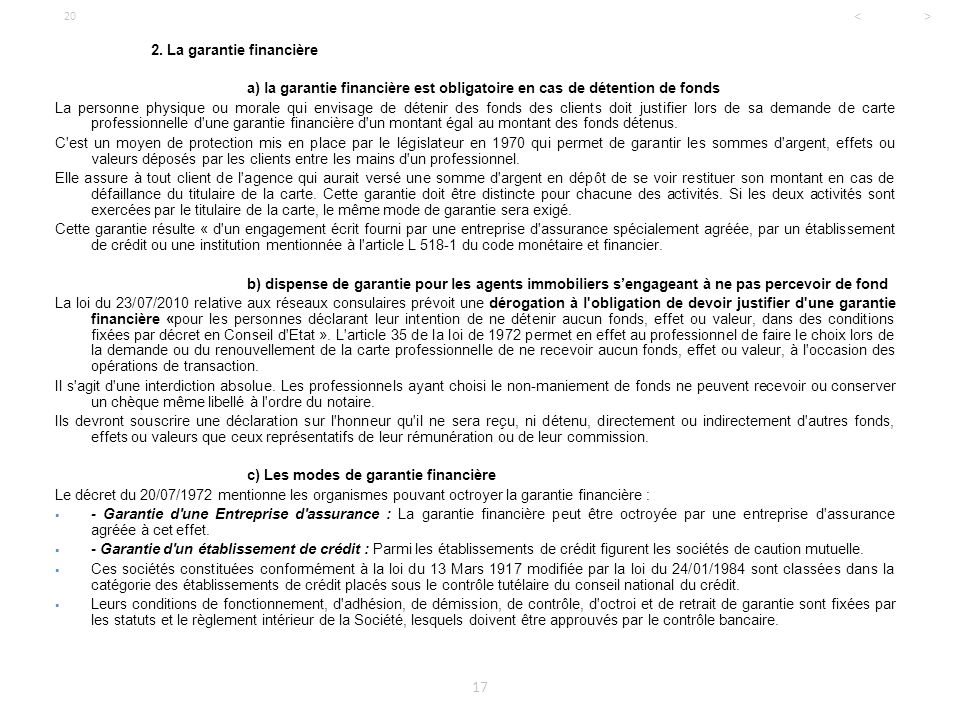 Licence professionnelle droit de l 39 immobilier ppt for Depot reglement interieur